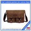 Le créateur de mode lavés toile Sacs Messenger avec cuir véritable (MSB-002)