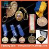Цвет золота/серебра/бронзовых медали спорта пробела логоса надувательства фабрики Alibaba Китая изготовленный на заказ с талрепом