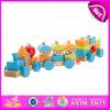 Игрушка поезда 2015 блоков формы тяги, поезд блоков воспитательной тележки тяги деревянный, игрушка W05c020 тяги поезда новых блоков конструкции деревянных малая
