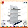 La vendita ha personalizzato la doppia scaffalatura parteggiata del supermercato della visualizzazione del metallo (Zhs508)