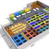 Xiaofeixia дешевые большой парк батут большого размера для установки внутри помещений