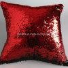 Colore rovesciabile del doppio della cassa del cuscino del coperchio dell'ammortizzatore del sofà di scintillio della sirena del Sequin, cuscino luminoso della sirena