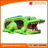 De 2017 juguetes inflables Cocodrilo combinado Moonwalk saltando Bouncer (T1-905)