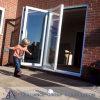 Portas de dobradura de alumínio/portas Bifold/projeto portas do pátio