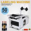 Étiqueteur semi-automatique de bouteille de machine à étiquettes de bouteille ronde