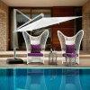 Insieme di caffè esterno della mobilia della nuova di disegno dell'hotel corda della mobilia con il &Side Table&Ottoman (YT998) del sofà dell'amante