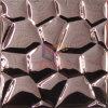 القهوة اللون الوجه مرآة الفولاذ المقاوم للصدأ المعادن فسيفساء (CFM893)