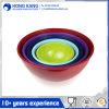Kundenspezifische Firmenzeichen-Größengleichessgeschirr-Melamin-Suppe-runde Filterglocke