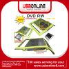 El USB DVD +/- RW conduce, hornilla de DVD con el cojín de enfriamiento y el eje portuario del USB 3
