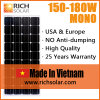 энергия солнечной силы панели солнечных батарей 160W 12V Mono
