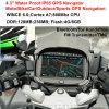 4.3 privé voiture camion étanche IP65 Marine Navigation GPS avec Wince 6.0 double 800 MHz CPU, transmetteur FM, un casque Bluetooth, appareil de localisation GPS Navigator
