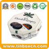 De forma octogonal de estaño metálico Caja de alimentos para las cookies de chocolate oscuro