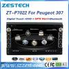 Dubbele GPS van de Auto DVD van DIN voor Peugeot 307 met Radio Bluetooth