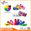 Kundenspezifischer Wristband des Fabrik-VinylRFID mit unterschiedlicher Farbe und Firmenzeichen für Musik-Festival