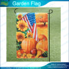 Bandeiras de jardim de cetim decoradas com decoração personalizada (J-NF06F11002)