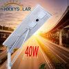 Réverbère solaire sec extérieur de propriété industrielle du modèle 40W DEL