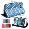 Caja protectora de cuero modificada para requisitos particulares del teléfono celular de la carpeta de la caja de la PU del diseño para Samsung