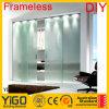 Puerta de cristal/puerta de vidrio de desplazamiento/puerta deslizante de cristal