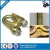 clips malléables galvanisés de 1/8  câble métallique