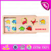 2015 capretti Game Wooden Animal Professional Domino, DIY Wooden Animal Domino per Children, Dinasour Design Wooden Domino Toy W15A025