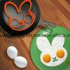 O coelho Eco-Friendly engraçado deu forma ao molde da omeleta do ovo da borracha de silicone