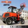Затяжелитель колеса строительных оборудований Zl16 Qingdao Everun малый миниый с деревянными вилками