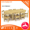 Niños Wooden Table y Chair Furniture Set