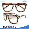 Vidros de Sun elegantes do frame Handmade novo da tartaruga dos óculos de sol do acetato do desenhador,