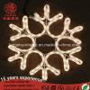 36 plegable LED brilla la luz de la decoración de Navidad de copo de nieve, las luces de color blanco cálido