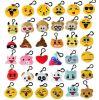Mini Emoji Animal Plush Keychain para Mochila