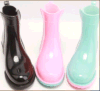 Carregadores de chuva curtos do PVC do tornozelo para mulheres