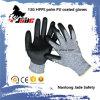 черная ранг покрынная PU промышленных перчаток 13G вровень 3 и 5