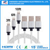 Alta calidad para el cable del USB del cargador del iPhone