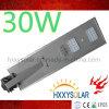 Alta qualidade 30W todo em uma luz de rua solar do diodo emissor de luz