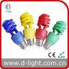 De gemengde Halve Spiraalvormige Kleurrijke Lampen van de Kleur