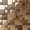 Azulejo de la pared del mosaico del metal del acero inoxidable, mosaico de cristal (SM211)