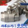 Valvola a sfera del filetto dell'acciaio inossidabile di ISO/Ce 2PC