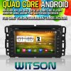 Witson S160 para Gmc Yukon/jogador suburbano do carro DVD GPS da enclave de /Tahoe/Acadia/Buick com parte dianteira instantânea do núcleo HD1024X600 Screen16GB 1080P WiFi 3G do quadrilátero Rk3188 (W2-M021)