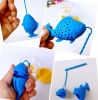 Coreia Hot Selling Funny Little Fish Silicone Tea Infuser com String