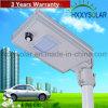 luz de rua Integrated solar do diodo emissor de luz 6W 3 anos de garantia