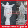 Jesus en St Francis Marble Statue Marble Sculpture