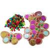 Plastのパッキング蝶チョコレート硬貨および豆