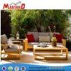 Schnittteakholz-hölzernes Sofa stellt wasserdichtes Gewebe mit schneller trockener Schaumgummi-im Freiengarten-Möbeln ein