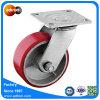 Hochleistungsspitzenplatten-Fußrolle dreht 5 Zoll PU-Stahlkern-Rad
