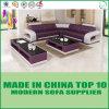 L sofá de canto moderno do lazer do couro da forma