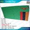 Drapeau de la Zambie, Screen Prining, 160GSM Spun Polyester