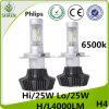 Lumière 8000lm 6500K de véhicule de Philips 50W H4 9007 H/L DEL