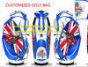 Kundenspezifische Luxuxnylon-und Leder-Golfcaddie-Beutel