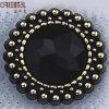 Stamping d'argento Head Portrait Button (C-030 (BLACK) - 165PR)