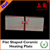 Placa de aquecimento cerâmico em forma de ferro